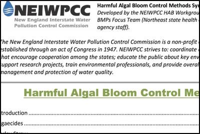 NEIWPCC Harmful Algal Bloom Control Methods Synopses